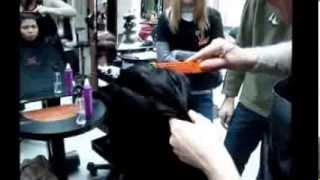 градуированная стрижка на длинных волосах(23 января 2013 К сожалению видео не до конца снято., 2013-10-24T16:00:01.000Z)