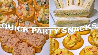 Quick and Easy Party Snack Ideas | Party Snack Recipes | Kids Snack Ideas ||*Fatima Fernandes