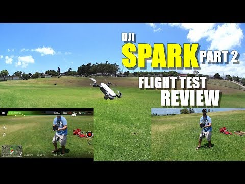 DJI SPARK In-Depth Flight Test Review - Part 2 - Controller Link, Sport Mode, Quickshot, Pros & Cons