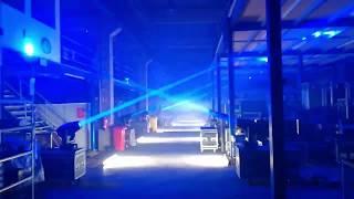 "Azubi Lightshow Lager DUS; Music: ""Superhero Showdown"" by Blue Stahli"