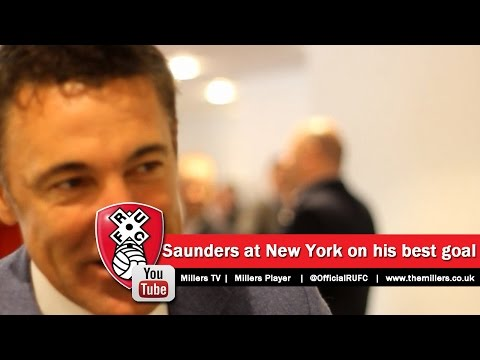 Dean Saunders at New York Stadium talking about his best goals