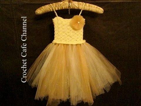 b0202f95a  كروشيه فستان مع التل Tutu dress | كروشيه كافيه|Crochet Cafe - YouTube