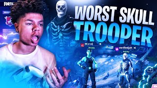 THIS HAS TO BE THE WORST SKULL TROOPER TO PLAY FORTNITE! Fortnite Battle Royale RAGE! 😡