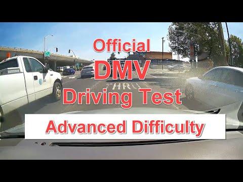 DMV Dash Cam Driving Test - ADVANCED Difficulty - OFFICIAL Test w/ Score Sheet and Walk Through