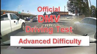 DMV Dash Cam Driving Test - ADVANCED Difficulty - OFFICIAL Test w/ Score Sheet and Walk Through