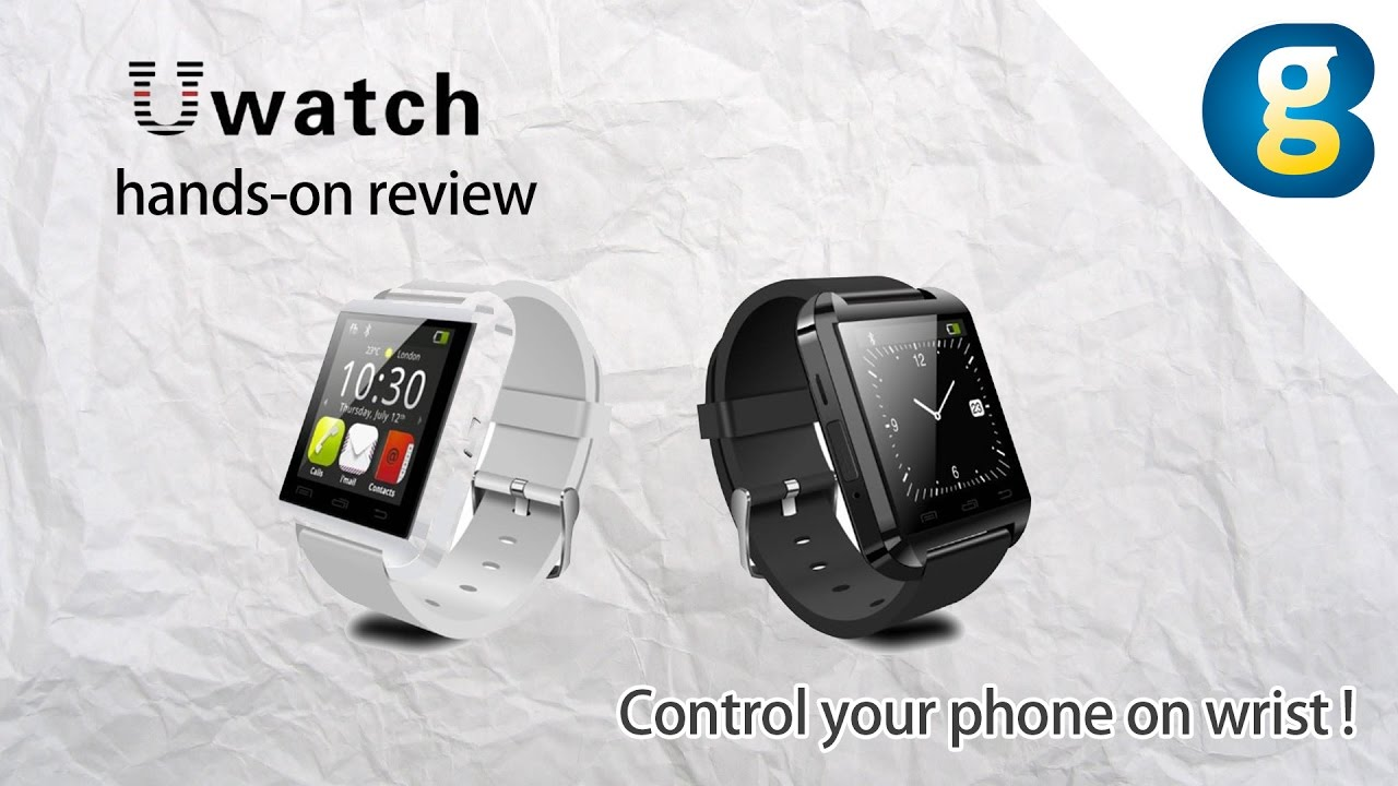 c6602702d Smartwatch U Watch U8 hands-on review  Control your phone on wrist -  Geekbuying - YouTube