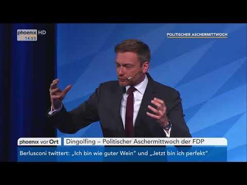 Christian Lindner beim Politischen Aschermittwoch der FDP am 14.02.18