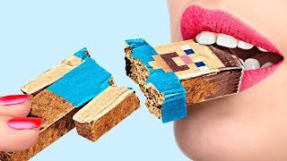 6 DIY DE DOCES MINECRAFT vs DOCES ROBLOX DESAFIO!