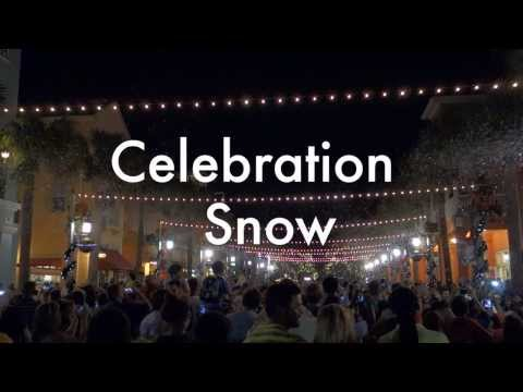 Celebration Florida Christmas Snowfall December 2013