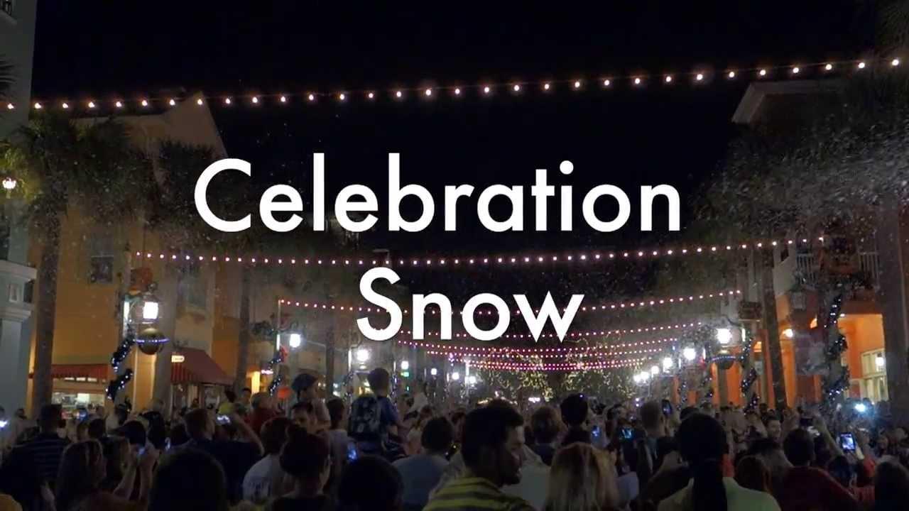 Celebration Florida Christmas Snowfall December 2013 - YouTube