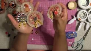 1. Let's Make Halloween Embellishments - Rosette from Cupcake Liners