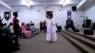Tiara praise dancing to Shekinah Glory Say Yes