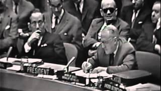 Cuban Missile Crisis- Valerian Zorin V/s Adlai Stevenson @ UNITED NATIONS