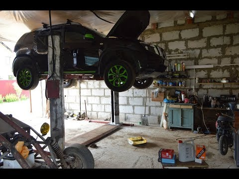 подъемник в гараж, двухстоечный подъемник, установка подъемника своими руками