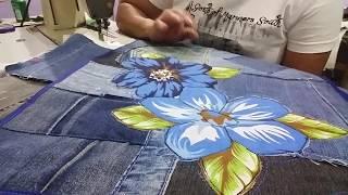 Tapetes com aplicação em E.V.A e Jeans usado – Reaproveite