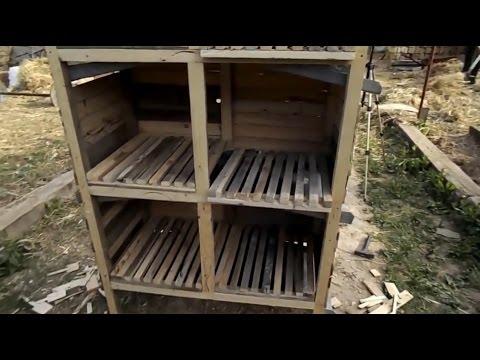 клетки для кроликов своими руками видео