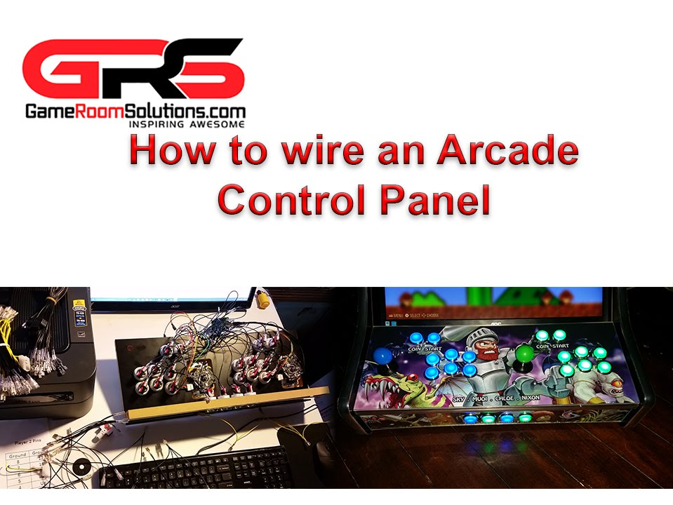 Wire and Light up an Arcade Control Panel Buttons and