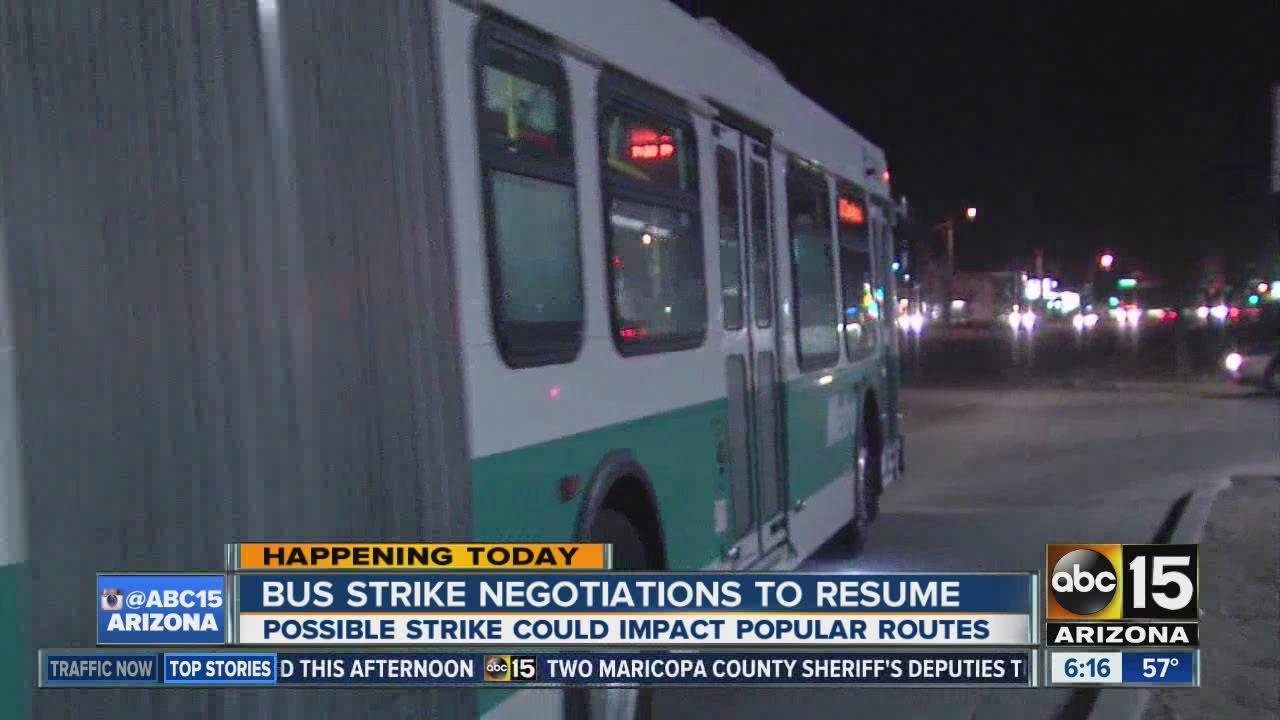 Valley metro bus strike negotiations to resume