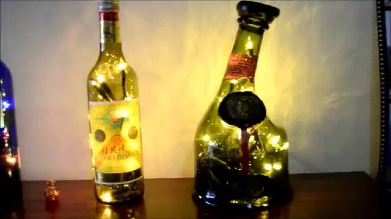 Lampara botella reciclado youtube - Lamparas con botes de cristal ...