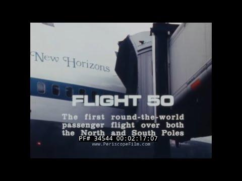 PAN AM CLIPPER NEW HORIZONS  1977 ROUND THE WORLD FLIGHT  34544