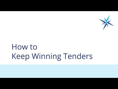 How to Keep Winning Tenders
