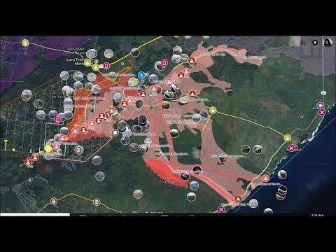 Hawaii Island Eruptions on Google Maps. Link Below. - YouTube