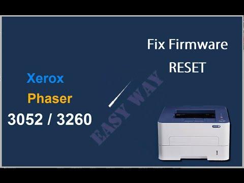 Reset Xerox Phaser 3052 3260 instructiuni resoftare EasyWay