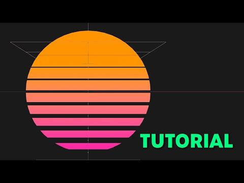 How To Create An Outrun Style Sun In Cinema 4D - Tutorial