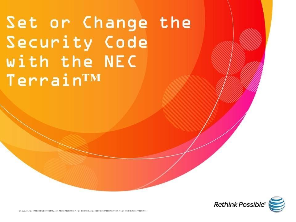 NEC Terrain : Security Code