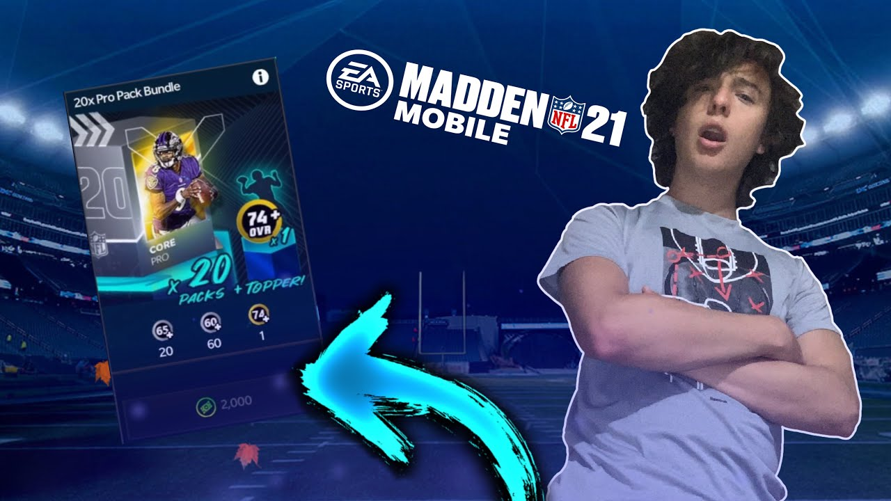 The BEST Madden Mobile 21 PACK OPENING!!