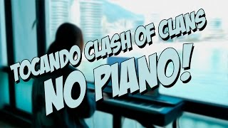 Vika Kim - Tocando Clash of Clans no Piano - Clash of Clans Playing on Piano