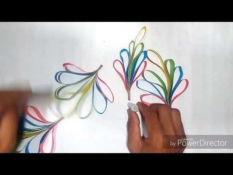 how to make a paper diya cairkona ful।। kagojer cairkona ful banano।।
