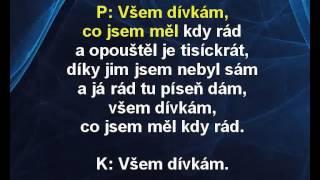 Všem dívkám co jsem měl kdy rád - Pavel Bobek, Karel Gott Karaoke tip