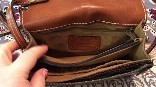 Review on my Patricia Nash Bianco Crossbody Wristlet Organizer Purse Bag