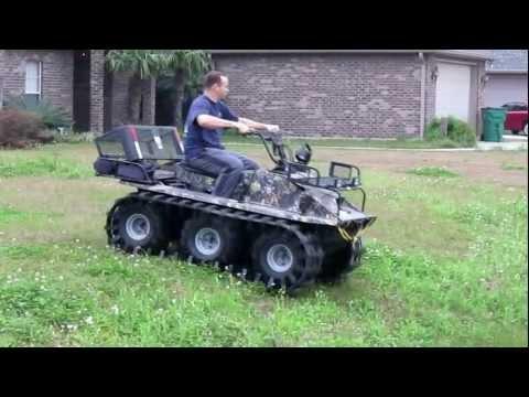 Hoot 6x6 Amphibious ATV with Adair Tracks 1st Run