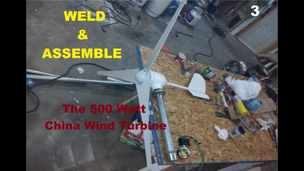 How to build a Chinese Wind Turbine vid #3 PARTS BELOW! - Јоhn