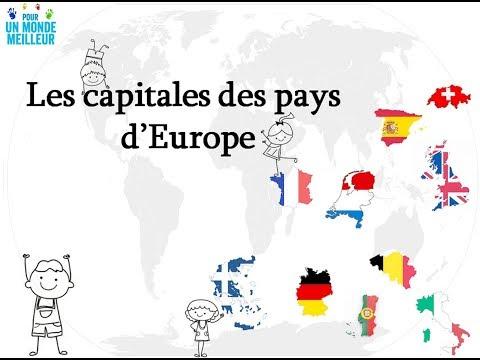 Apprendre les capitales des pays d'Europe  - 1 -