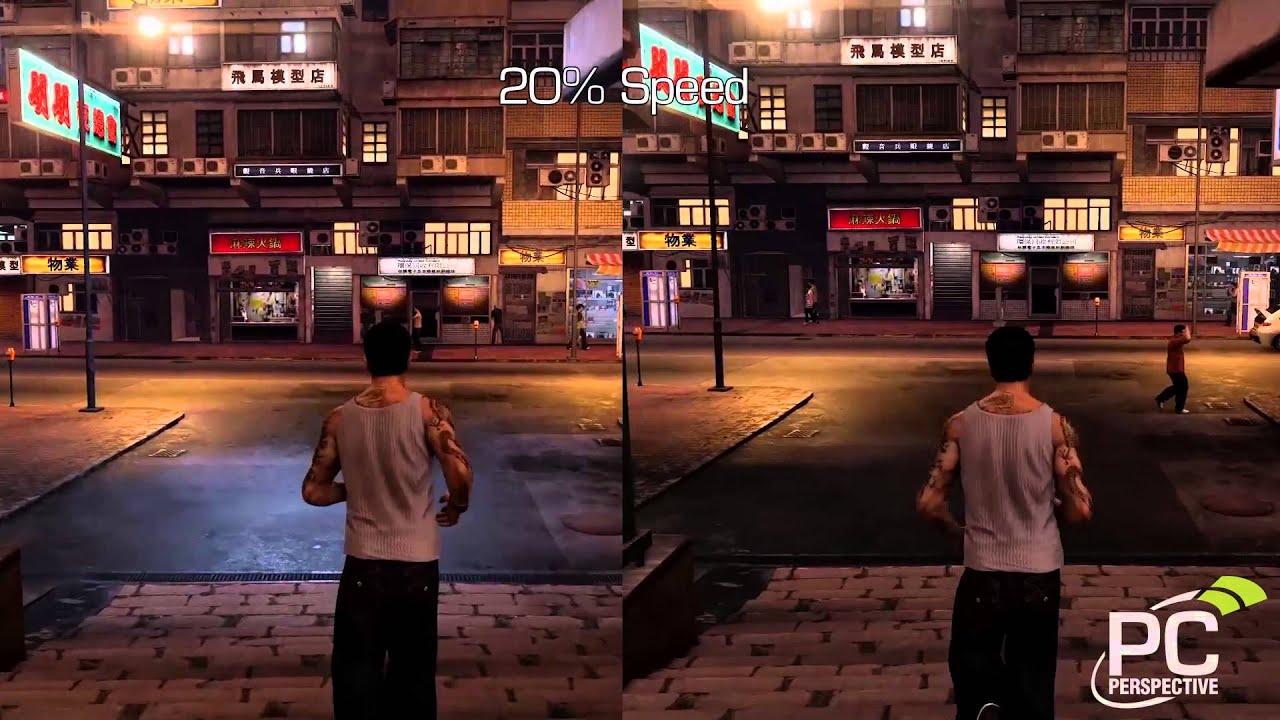 Sleeping Dogs - 60 FPS vs 30 FPS - Frame Rating - YouTube