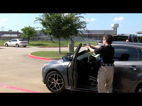 Career Center East Students perform a Felony Traffic Stop