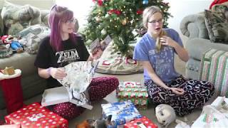 Opening Presents Christmas Morning 2017 | Day 25 |