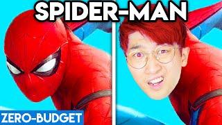 SPIDERMAN WITH ZERO BUDGET! (FUNNY SPIDERMAN MOVIE PARODY BY LANKYBOX)