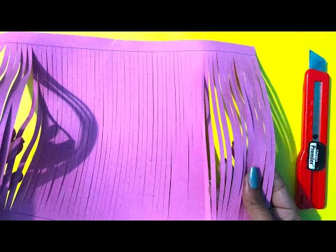 Paper flower stick making easy and simple method - art and craft with paper - paper craft idea