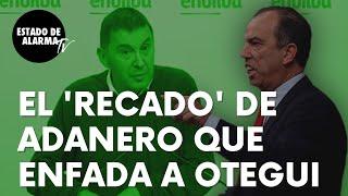"""El serio 'recado' de Carlos García Adanero a Bildu que no gusta para nada a Otegui: """"Menos clases"""""""