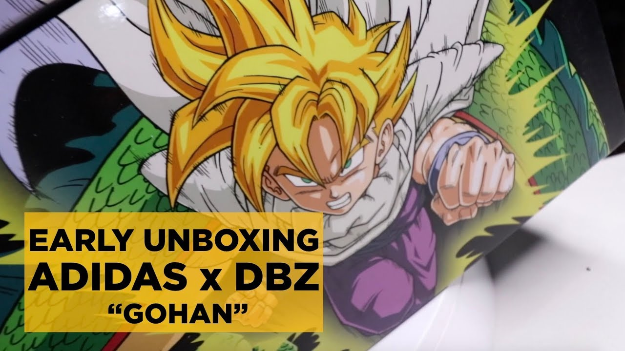 size 40 f7e25 0ff41 EARLY UNBOXING ADIDAS x DRAGON BALL Z