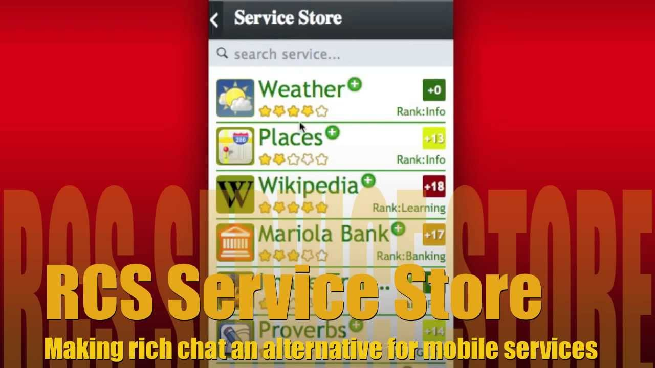 RCS Service Store