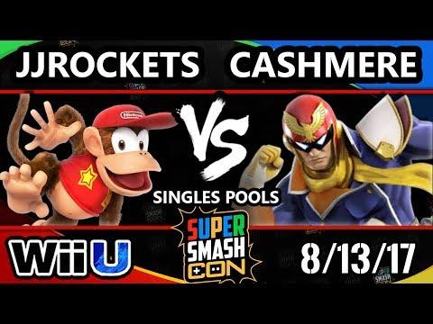 Smash Con 2017 Smash 4 - JJRockets (Diddy Kong) Vs. Cashmere (Captain Falcon) Wii U Pools