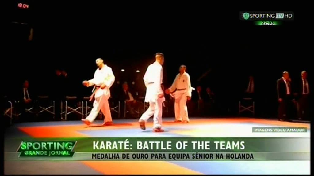 Karaté :: Sporting medalha de ouro na Battle of Teams na Holanda a 06/12/2014