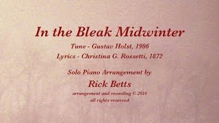 In the Bleak Midwinter - Lyrics with Piano