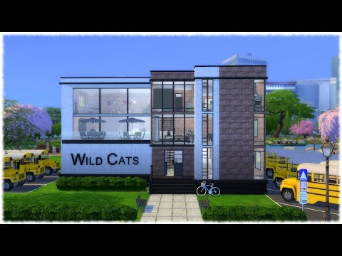 The Sims 4: Speed Build // HIGH SCHOOL