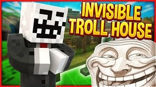 Minecraft Trolling: INVISIBLE HOUSE TROLL! #91 (Minecraft Pranks)